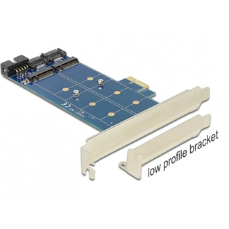 Delock PCI-E x1 2 portos  M.2 NGFF adapter