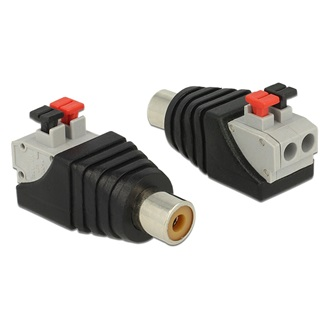 Delock RCA -> Terminal block 2pin F/F adapter fekete