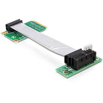 Delock mini PCI-E x1 -> PCI-E x1 Riser card (jobb)