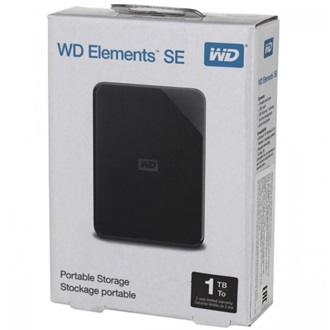 "Western Digital Elements SE Portable 1TB USB3.0 2,5"" külső HDD fekete"
