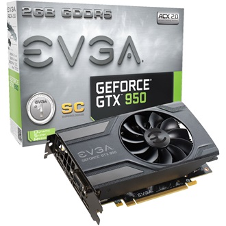 EVGA GeForce GTX 950 Superclocked 2GB GDDR5 128bit grafikus kártya