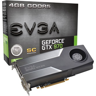 EVGA GeForce GTX 970 Superclocked 4GB GDDR5 256bit grafikus kártya