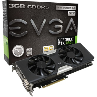EVGA Geforce GTX780Ti 3GB GDDR5 384bit PCI-E x16