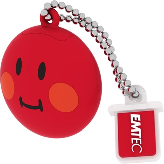 Emtec 8GB USB2.0 SW100 Smiley pendrive piros