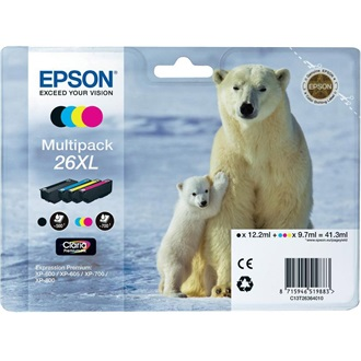 Epson PREMIUM INK CLARIA MULTIPACK4 COLOUR 26XL