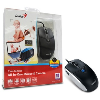 GENIUS Cam Mouse USB optikai egér All-in-One Mouse & Camera fekete