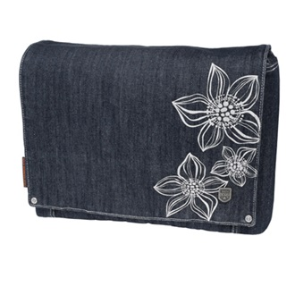 "GOLLA 2011 14"" FLOWPOP sötétkék laptoptáska BASIC DENIM"