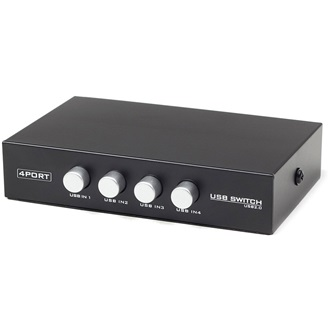 Gembird 4 portos USB 2.0 switch