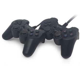 Gembird Double dual vibration USB gamepad fekete