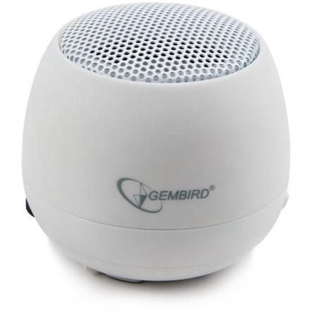 Gembird 1.0 hordozható hangszóró fehér