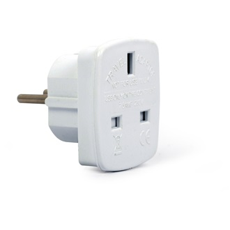Gembird UK socket to EU plug adapter
