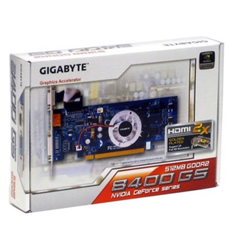 Gigabyte GF 8400GS 512MB GDDR2, 64 bit, TV-out, DVI (PCIe)
