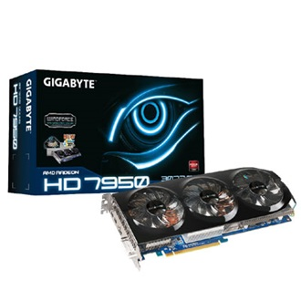 GIGABYTE Radeon HD7950 WindForce3 3GB GDDR5 384bit PCI-E x16