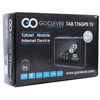 "GOCLEVER T76GPS TV 7"" 8GB tablet TV fekete"