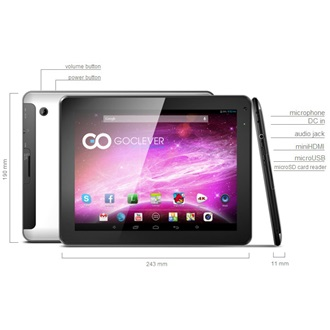 "GOCLEVER Orion 97 9.7"" 8GB tablet ezüst"