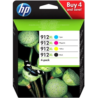 HP 912XL HIGH YIELD C/M/Y/K ORIGINAL INK CARTRIDGE 4-PACK tintapatron 4-color