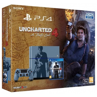 Sony 2803190 1000GB fekete + Uncharted 4
