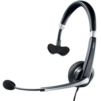 Jabra Voice 550 corded Mono Headset with comfortable headband with soft leathere