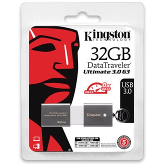 Kingston 32GB Data Traveler Generation 3 Ultimate USB3.0 pendrive szürke