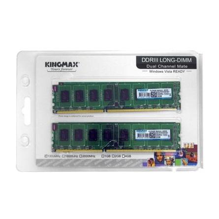 Kingmax 4GB 1600MHz DDR3 memória Kit of 2