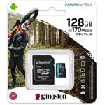 Kingston 128GB Canvas Go! Plus Class10 UHS-I U3 V30 A2 microSDXC memóriakártya
