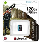 Kingston 128GB Canvas Go! Plus Class10 UHS-I U3 V30 A2 microSDXC memóriakártya Single Pack