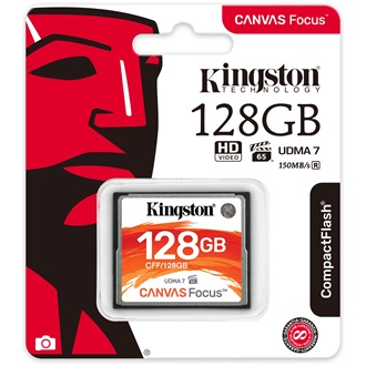 Kingston 128GB Canvas Focus Compact Flash memóriakártya