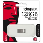 Kingston 128GB DataTraveler Micro USB3.1 pendrive ezüst