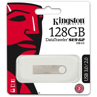 Kingston 128GB DataTraveler SE9 G2 USB 3.0 pendrive ezüst