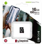 Kingston 16GB Canvas Select Plus Class 10 UHS-1 microSDHC memóriakártya Single Pack