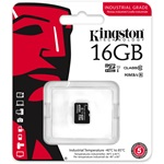 Kingston 16GB Indrustrial Temp Class 10 UHS-I microSDHC memóriakártya Single Pack