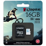 Kingston 16GB UHS-I U3 Action Card microSDHC memóriakártya