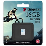 Kingston 16GB UHS-I U3 Action Card microSDHC memóriakártya Single Pack