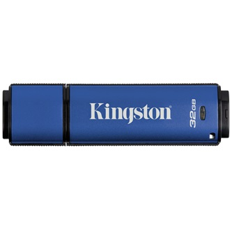 Kingston 32GB DataTraveler Vault Privacy 3.0 (Management Ready) vízálló USB3.0 pendrive kék