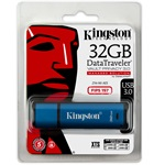 Kingston 32GB DataTraveler Vault Privacy 3.0 (Management Ready) vízálló USB 3.0 pendrive kék