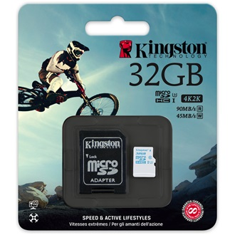 Kingston 32GB UHS-I U3 Action Card microSDHC memóriakártya