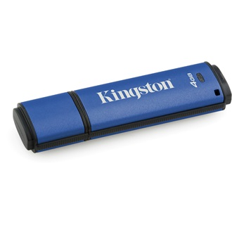 Kingston 4GB DataTraveler Vault Privacy 3.0 (Management Ready) vízálló USB3.0 pendrive kék