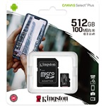 Kingston 512GB Canvas Select Plus Class 10 UHS-1 microSDHC memóriakártya