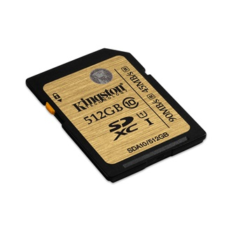 Kingston 512GB Ultimate Class 10 UHS-I SDXC memóriakártya