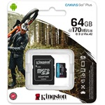 Kingston 64GB Canvas Go! Plus Class10 UHS-I U3 V30 A2 microSDXC memóriakártya