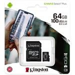 Kingston 64GB Canvas Select Plus Class 10 UHS-1 microSDHC memóriakártya