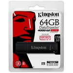 Kingston 64GB DT4000 G2 Secure Hardware Encryption (Management Ready) vízálló ütésálló USB3.0 pendrive fekete