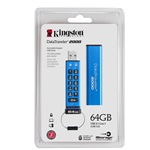 Kingston 64GB DataTraveler Keypad DT2000 vízálló USB 3.0 pendrive kék