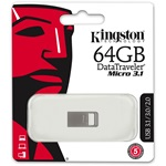Kingston 64GB Data Traveler Micro USB3.1 pendrive ezüst