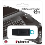 Kingston 64GB Traveler Exodia USB 3.2 Gen 1 pendrive fekete-kék