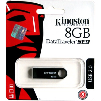 Kingston 8GB DataTraveler SE9 USB 2.0 pendrive fekete