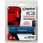 Kingston 8GB DataTraveler Vault Privacy 3.0 (Management Ready) vízálló USB3.0 pendrive kék