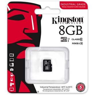 Kingston 8GB Indrustrial Temp Class 10 UHS-I microSDHC memóriakártya Single Pack