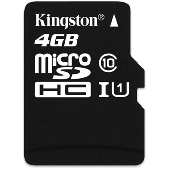 Kingston 4GB Class 10 UHS-I microSDHC memóriakártya Single Pack