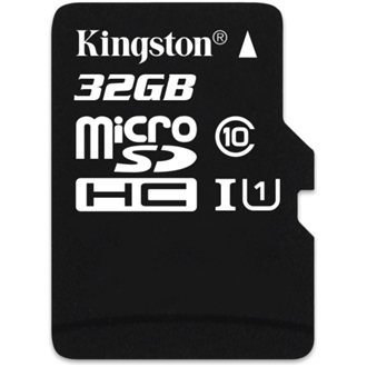 Kingston 32GB Class 10 UHS-I microSDHC memóriakártya Single Pack